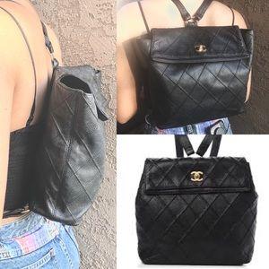 ❤️RARE Chanel Caviar diamond stitched backpack